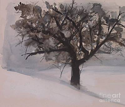 Winter Tree Print by Laurie Rohner