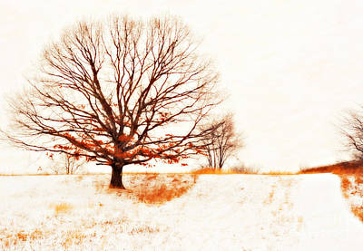 Winter Storm Mixed Media - Winter Tree by Randy Steele