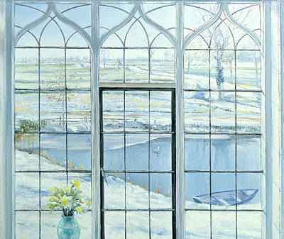 Winter Triptych Print by Timothy Easton