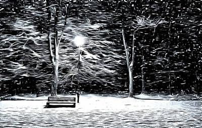 Digital Art - Winter Wonder At The Park by Mario Carini
