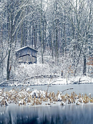 Nature Center Pond Photograph - Winter Wonderland 1 by Shara Lee