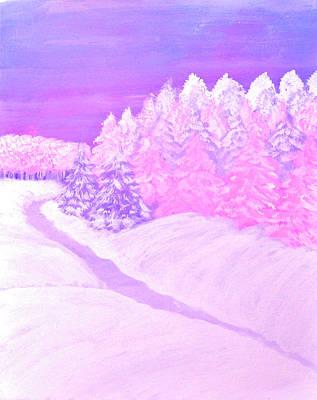 Winter Wonderland In Pink Original by Belinda Wood