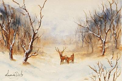 Watercolour Painting - Winter Wonderland by Lucia Del