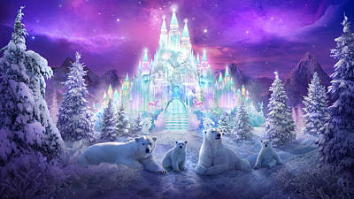 Castle Mixed Media - Winter Wonderland by Philip Straub