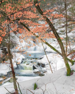 Winter Woodland Stream Print by Bill Wakeley