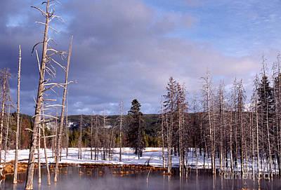 Winter Yellowstone National Park Print by Thomas R Fletcher