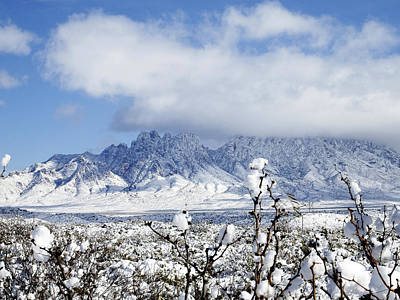 Las Cruces Digital Art - Organ Mountains Winter Wonderland by Kurt Van Wagner