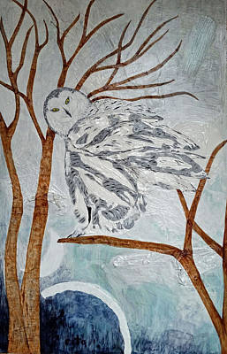 Winterscape Painting - Winter's Snowy Owl by Rita Omark
