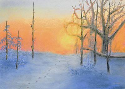 Landscape Pastel - Winters Sunset by Ken Figurski