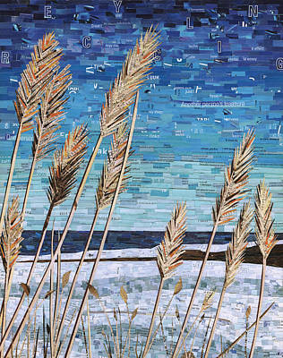 Mosaic Mixed Media - Wintertime On Lake Erie by Shawna Rowe
