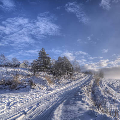Salo Photograph - Wintry Road by Veikko Suikkanen