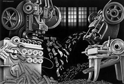Boris Drawing - Wire Chewers by Boris Artzybasheff