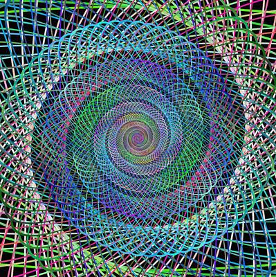 Spiral Digital Art - Wire Spiral by David Zydd