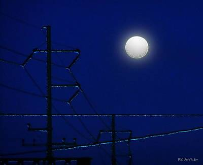Wired Moon Print by RC deWinter