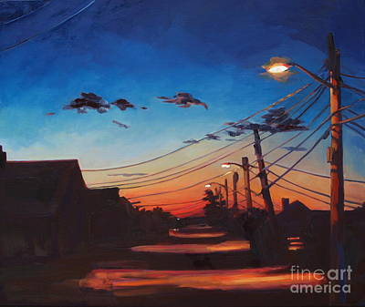 Cape Cod Mass Painting - Wired by Patricia A Griffin
