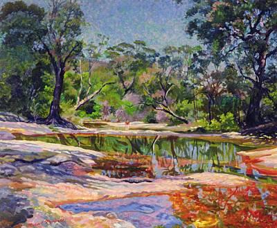Lush Painting - Wirreanda Creek - New South Wales - Australia by Robert Tyndall