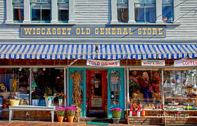 Country Store Photograph - Wiscasset General by Susan Cole Kelly