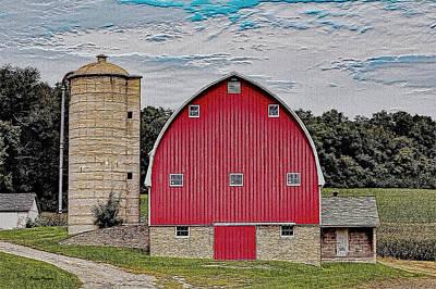 Wisconsin Barn Print by Ericamaxine Price
