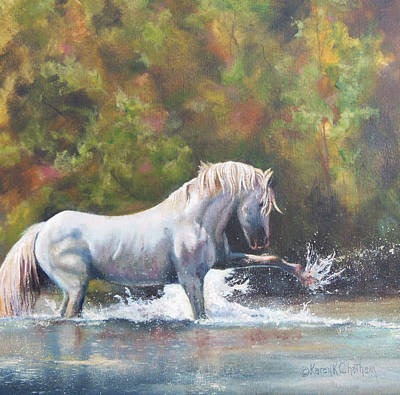 Chatham Painting - Wisdom Of The Wild by Karen Kennedy Chatham