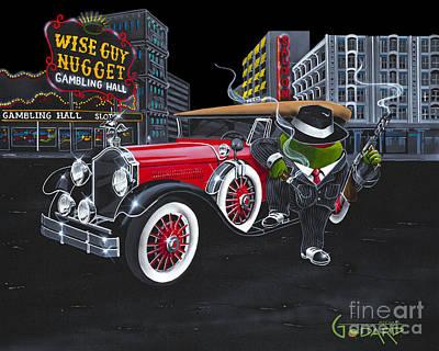Gambling Painting - Wise Guy by Michael Godard