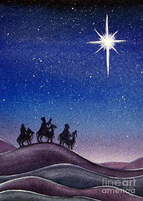 Christmas Eve Painting - Wise Men by Christina Meeusen