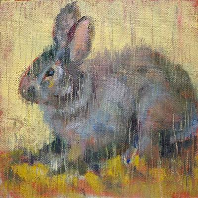 Painting - Wise Rabbit by Donna Shortt
