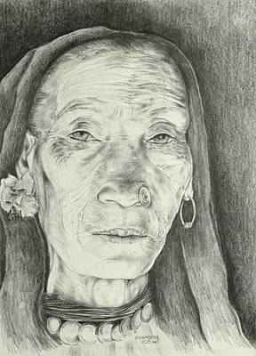 Wise Woman Print by Elizabeth Cox