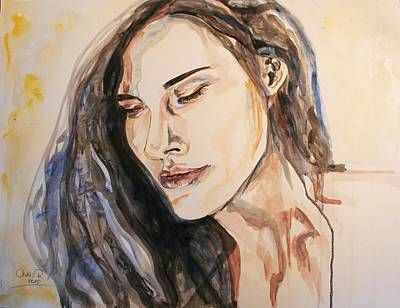 Portrait Painting - Wishing Well by Christel  Roelandt