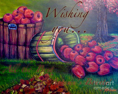Wishing You All The Best Of Autumn's Bounty Print by Kimberlee Baxter
