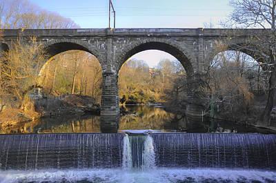 Photograph - Wissahickon Creek Waterfall On Ridge Avenue by Bill Cannon