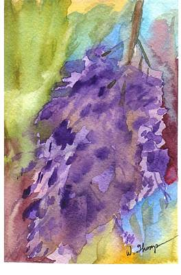 Watercolor Wisteria Painting - Wisteria Abstract by Warren Thompson