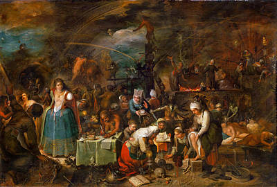 Painting - Witches Assembly by Frans Francken the Younger