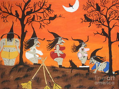 Witches Biggest Loser Print by Jeffrey Koss