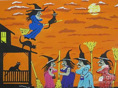 Witches Prom Night Print by Jeffrey Koss