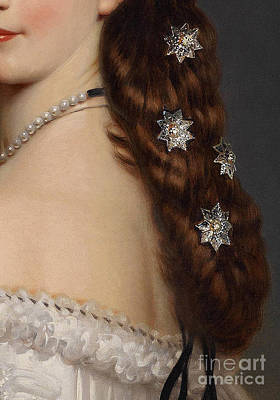 Restore Painting - With Stars In Her Hair Closeup Crop by Tina Lavoie