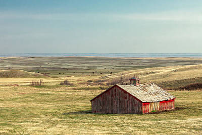 Withering Barn Print by Todd Klassy