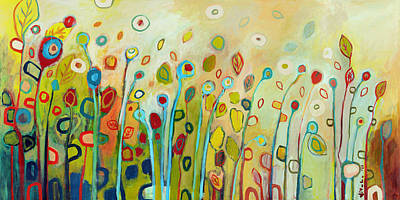 Nature Abstracts Painting - Within by Jennifer Lommers