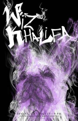 Wiz Digital Art - Wiz Khalifa by Kim Cyprian