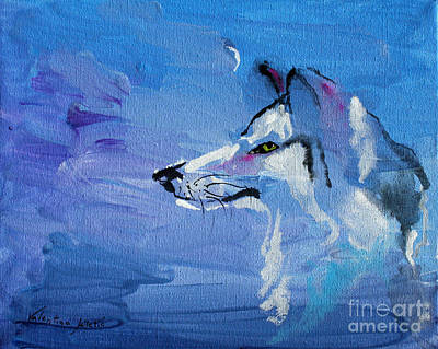 Wolf Painting - Wolf Ayka - Animal Art By Valentina Miletic by Valentina Miletic