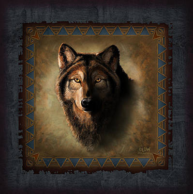 Wolf Painting - Wolf Lodge by JQ Licensing