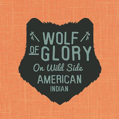 Wild Wolf Mixed Media - Wolf Of Glory by Brandi Fitzgerald