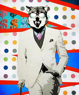 Beverly Hills Mixed Media - Wolf Of Wall Street by Surj LA