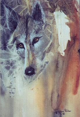 Wolf Face Painting - Wolf Portrait by Lynne Parker