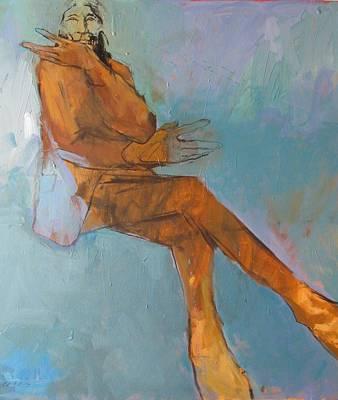 Wolf Robe Doing His Egon Schiele Thing Original by Bert Seabourn