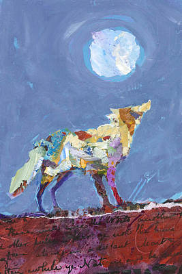Painting - Wolf by Shelli Walters