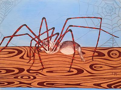Python Drawing - Wolf Spider by Joe Richichi