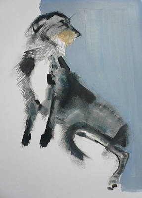 Loose Style Painting - Wolfhound by Sally Muir