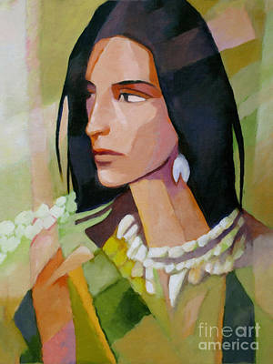Cubism Painting - Woman 2006 by Lutz Baar