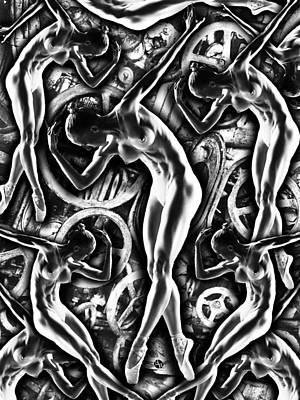 Woman In The Machine Frieze 3 Original by Tony Rubino