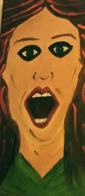 Aghast Painting - Woman Feeling by Tina Taylor